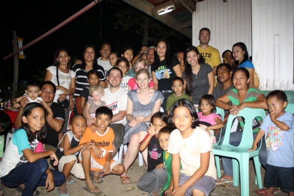 The majority of the group that attended the dinner.  We picked up about 20 of them in our rented jeepney so they didn't have to pay to come.