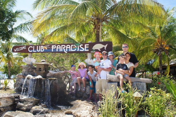 Everyone had a wonderful time at Club Paradise with it's beautiful sandy beaches, buffet food, fruit bats, ocean, pool, games, massages, etc