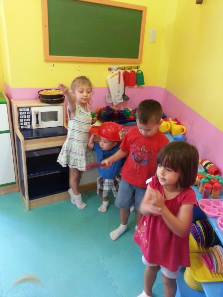 The kids enjoyed playing at Kidzville where they could get their energy out and use their imagination.