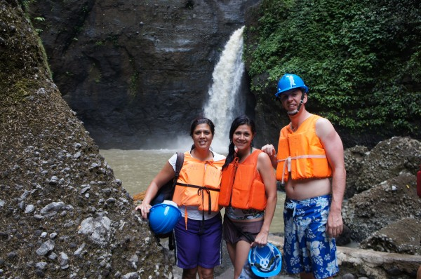 McKay only had 2 days in Manila with us.  So we made sure he had a spa day and then we went to Pagsanjan Falls.