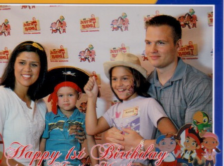 Photo booth and props were available for all.