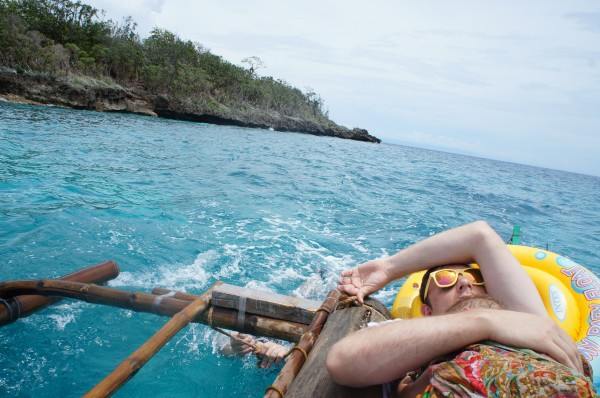 We picked McKay up at the airport and headed directly to Siquijor.  He was really tired and spent most of the boat ride trying to sleep.