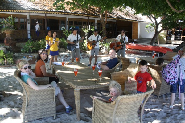 We had our own private musicians greet us once we arrived to the resort
