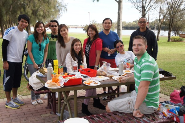 Our first outing in Perth was to Burswood Park to meet up with Filipino co-workers for a BBQ.