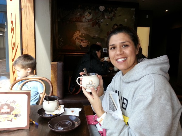 Day 5 was also the coldest day we were there so we had some fabulous hot chocolate at the nearby shops in Hillary.