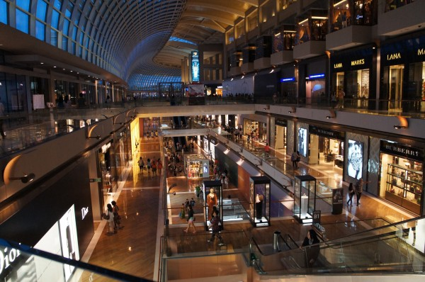The shops at Marina Bay Sands...very high end stores.