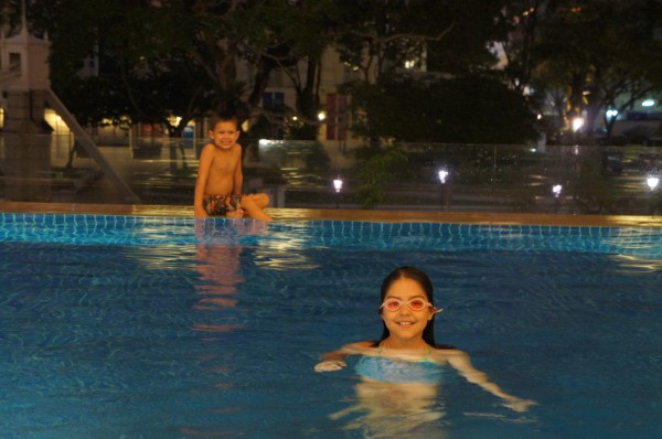 Day 3:  The kids ended the day by swimming in the pool.