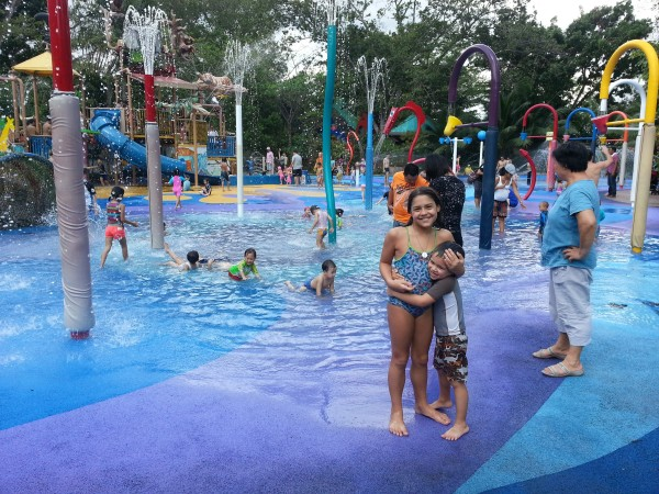 Day 4: Singapore zoo has a fun water park where the kids spent over an hour.