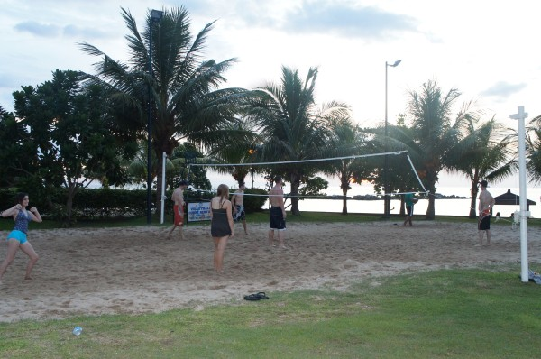 We had some fun playing sand volleyball.