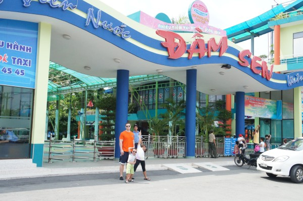 Our last full day in Vietnam we spent the morning at Dam Sen water park.