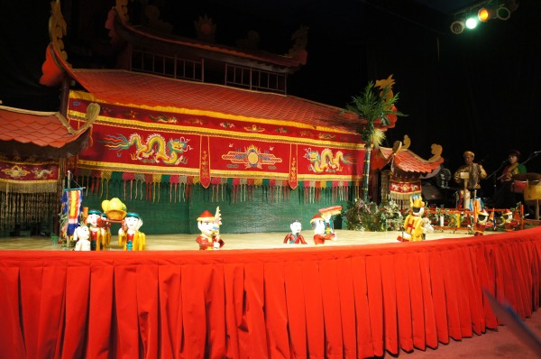 Our last night in Vietnam we watched the Water Puppet Show.  It was only 1 hour long and pretty entertaining although we didn't understand a word being said.