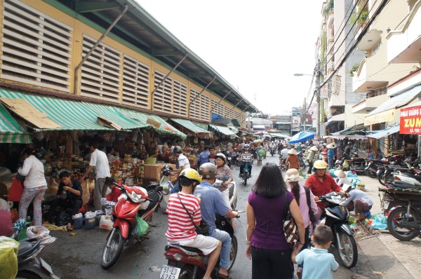 Our first stop on our city tour was at the local market.  Vendors inside and out.  Outer portion is food and the inner area is clothing, toys, etc.