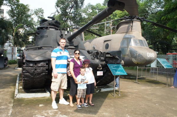 Vietnam War Remnants Museum...not sure how accurate the information is that is being displayed, and some photos and stories are pretty graphic.  Still it was cool to see a big tank!