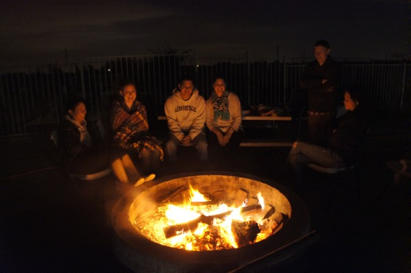 We had a bonfire at my parent's house a couple of times and even roasted some marshmallows and made smores