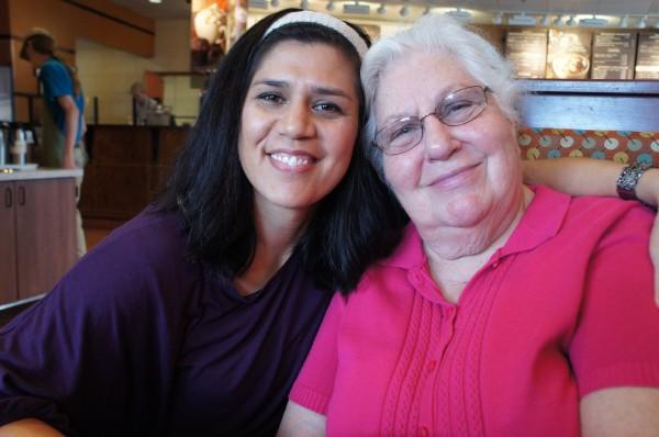 I had lunch with my grandma.