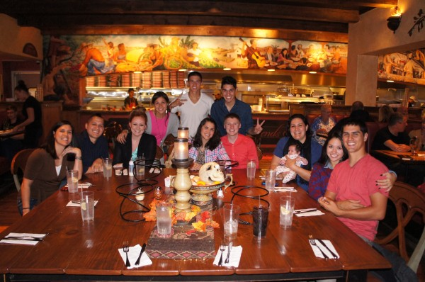 Dinner with ALL of my siblings and their spouse who were in California for the week.