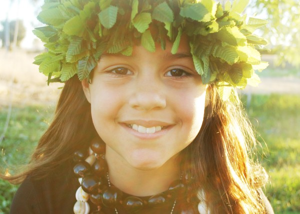 Before we left my sister took photos of the kids per my dad's request.  Here is our Hawaiian princess.
