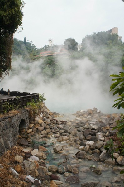 Beitou hotsprings. You could smell the sulfur and supposedly you can boil an egg in seconds there at the main source