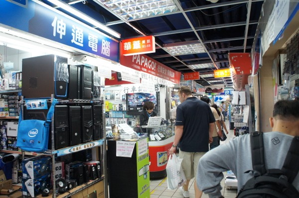 Traveling with a Tech-Savvy guy like I do means checking out electronics.  However this was not like Fry's.  Many small electronic stores, but at least they were all near enough to each other at 3C