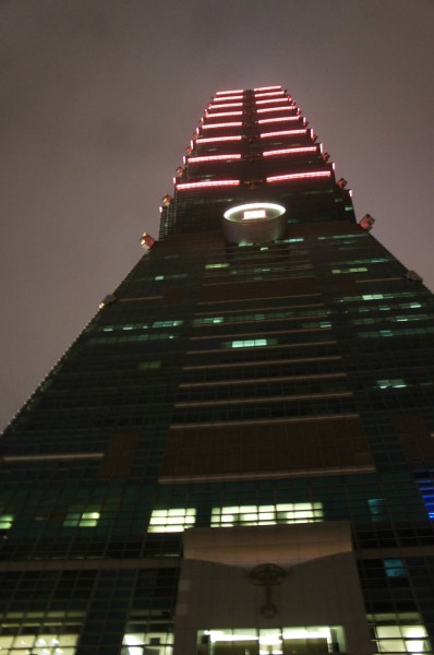 Taipei 101 is super tall with 101 floors...we ate on the 86th floor (or there about)