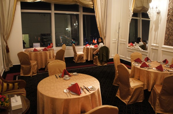 We ended the day by having dinner at Taipei 101.  We had this whole room to ourselves for about half of our 7-course meal