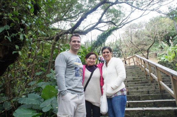 The three of us explored Jinguashi mining grounds
