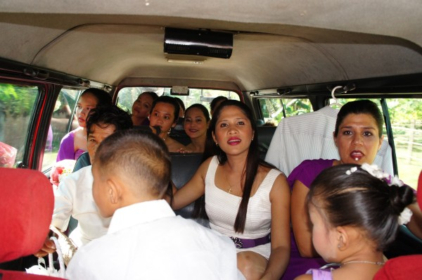 The 12 passenger van we rented, turned into an 18 passenger van as we transported many people to the church