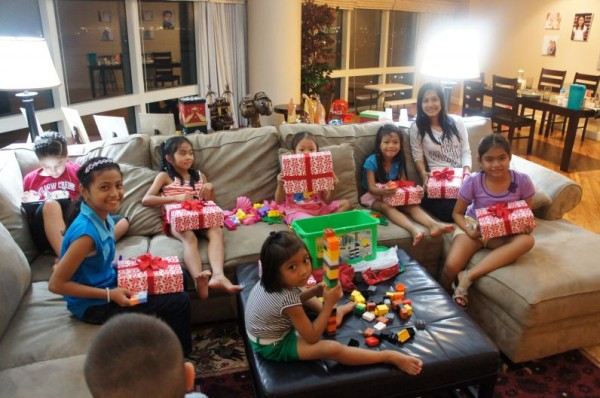 We hosted a Christmas party for our help and their family and gave everyone gifts