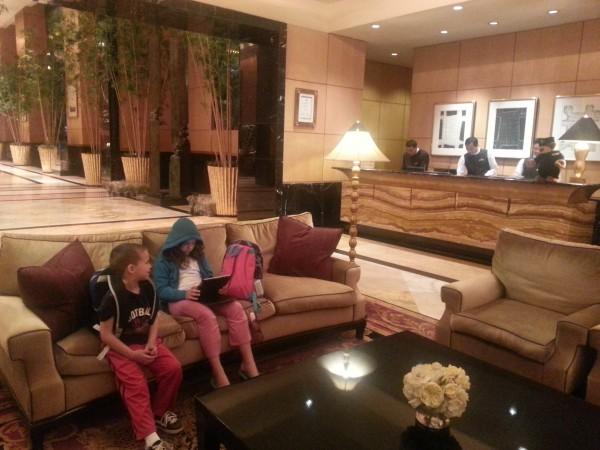 Mulia Hotel lobby around midnight checking in