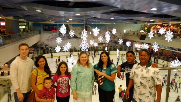 We took the group to the Mall of Asia where we watched the firework show and also people ice skating