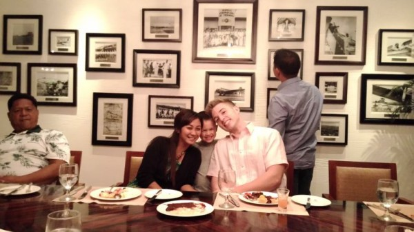 """We had a wonderful buffet dinner at Manila Peninsula and Drew's """"friend"""" joined us...who Mason liked to be with"""