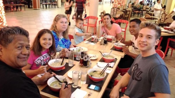 Our first meal in Manila was at the mall near our home where we had some yummy ramen noodles