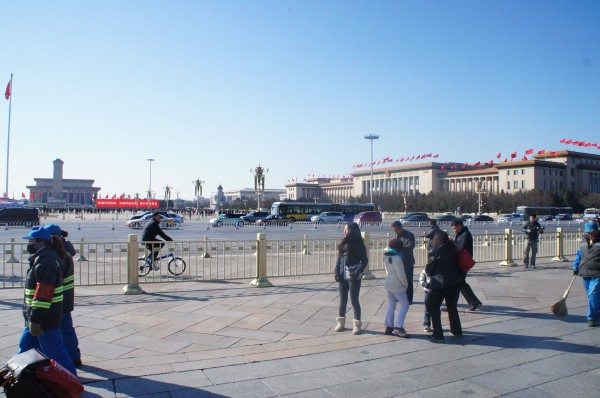 Tiananmen Square; we didn't cross the street, so this was what we saw of it in front of the Forbidden City