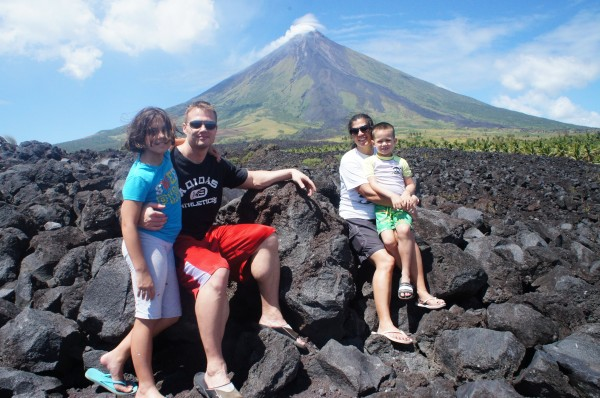 We took a small hike up to the 2006 lava wall of Mayon Volcano...then Matt took the zipline down
