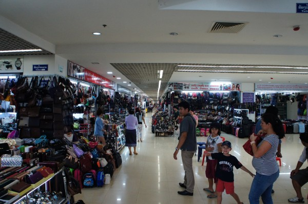 Inside an indoor market/swap meet type place.  Almost every country in Asia has something like this