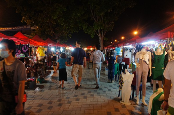 Directly from the airport we went to a night market in