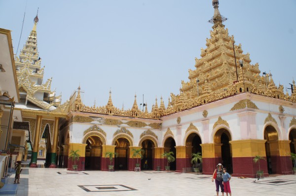 We went to the Mandalay Hill Pagoda and had a beautiful view of the city and also saw the beautiful pagoda