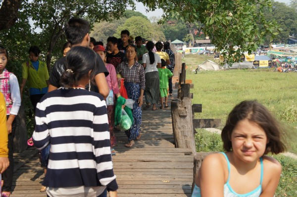 We went to U Bein Bridge which was super busy and crowded