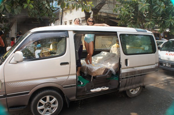 """The most memorable part of Myanmar was the """"country-wide water fight!"""" We were able to open the sun-roof to our van and have people throw water on us...yes it got the van completely soaked inside"""