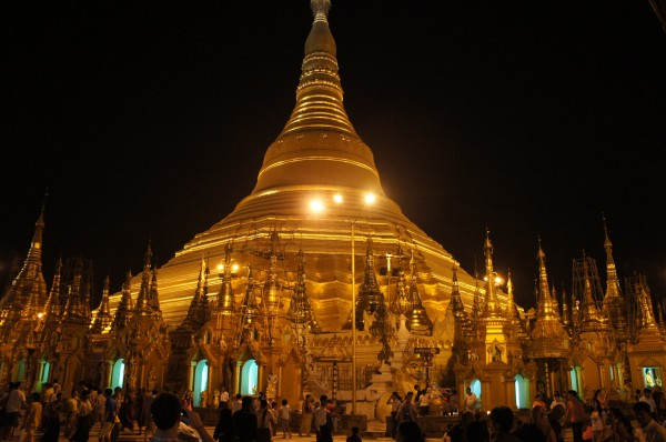 Our very last stop in Myanmar was at Shwedagon Pagoda. It is pretty amazing looking especially at night