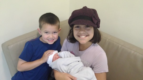 Kalani and Mason couldn't wait to go to the hospital to meet Blake and hold him
