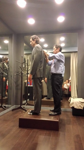 Drew convinced Peter to get a suit tailored made by the same tailor who made the 1980's James Bond suits