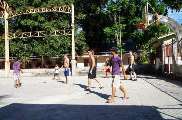 They played some basketball with cousins