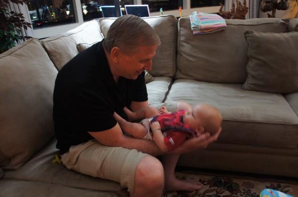 Grandpa magic with Blake to keep him happy