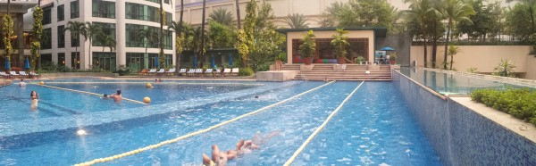 Our siblings enjoyed our club pool and gym that we have at our condo