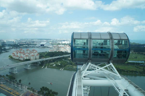 We got to ride in the Singapore Flyer and get a different point of view of the country