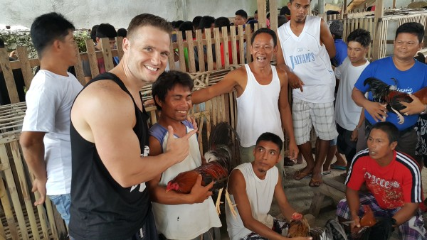 The boys always seem to go to a cock-fight in Siquijor