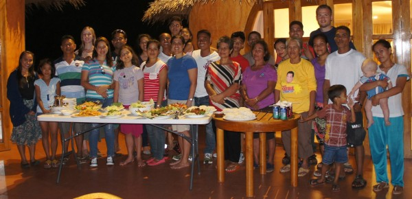 All of our cousins and 2 sister missionaries from The Church of Jesus Christ of Latter-day Saints who came over to have a catered dinner with us at Coco Grove.