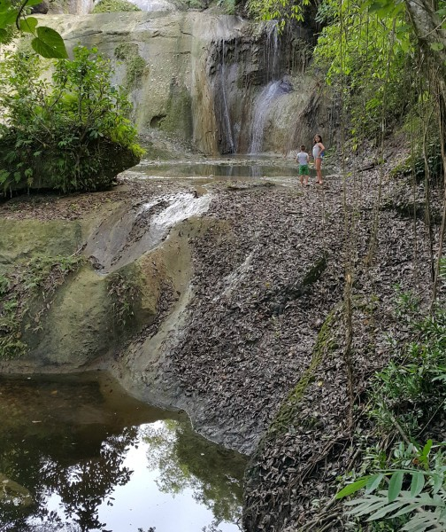 """We explored more of Siquijor and found another waterfall after walking through the """"jungle"""""""