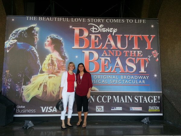 """I celebrated my 36th birthday with my aunt by going to see the musical play """"Beauty and the Beast""""."""